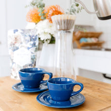 Load image into Gallery viewer, LINO 180 ml Cappuccino 6 oz cup and saucer Dark Blue