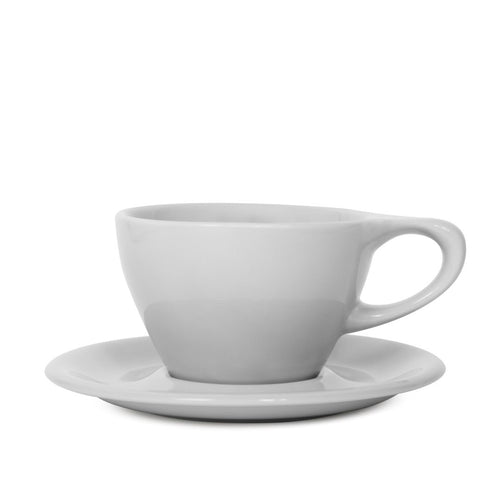 Lino Latte 240 ml Cup/Saucer, Light Gray