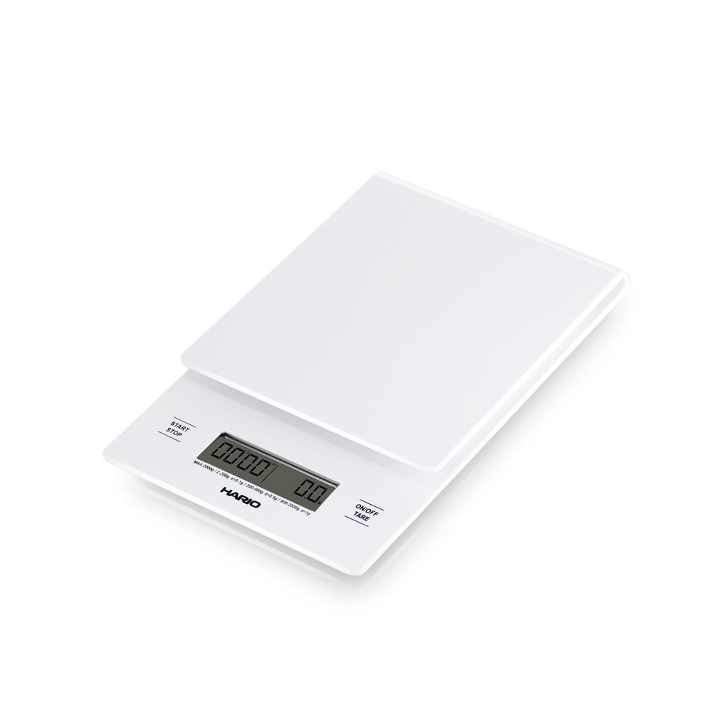 Hario scale with timer white