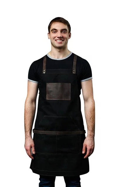 Barista apron 3 colors cotton
