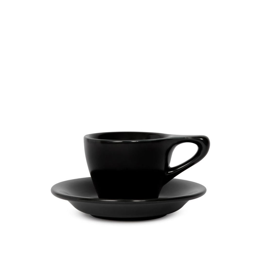 LINO Espresso cup and saucer black