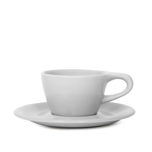 Lino 150ml Cappuccino Cup/Saucer, Light Gray