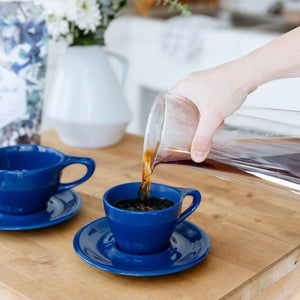 LINO 150 ml Cappuccino cup and saucer Dark Blue