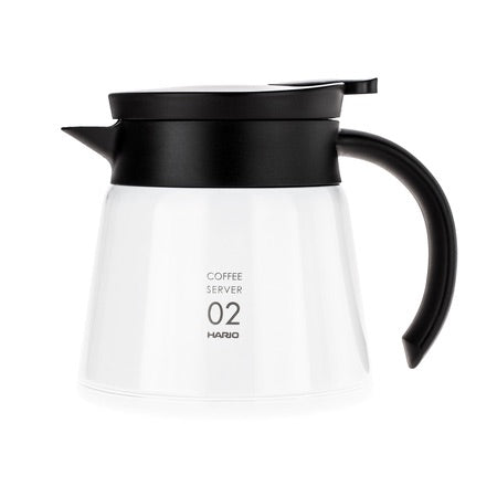 Hario V60 Server 02 white - Insulated Stainless Steel - 600ml