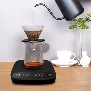 Smart Coffee scale rechargeable and auto timer