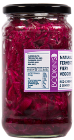 Naturally Fermented Fiery Vegetables: Red cabbage and ginger