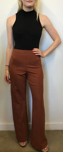 COPPER WIDE LEG PONTI PANT