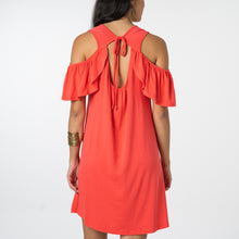 CORAL RED JERSEY DRESS