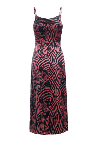 PINK ZEBRA SLIP DRESS