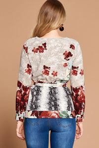 Multicolored Floral Blouse