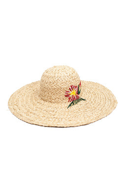 LISA WIDE RIM SUN HAT NATURAL