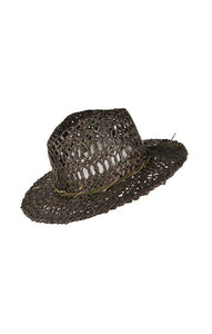 CLOVE PANAMA STRAW HAT DARK BROWN