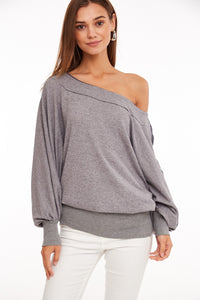 GREY OFF THE SHOULDER