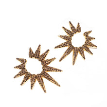 PAVE MULTI SPIKE EARRING