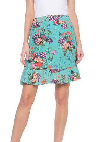 MULTI FLOWER SKIRT tly