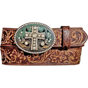 VINTAGE CROSS LEATHER BELT BN