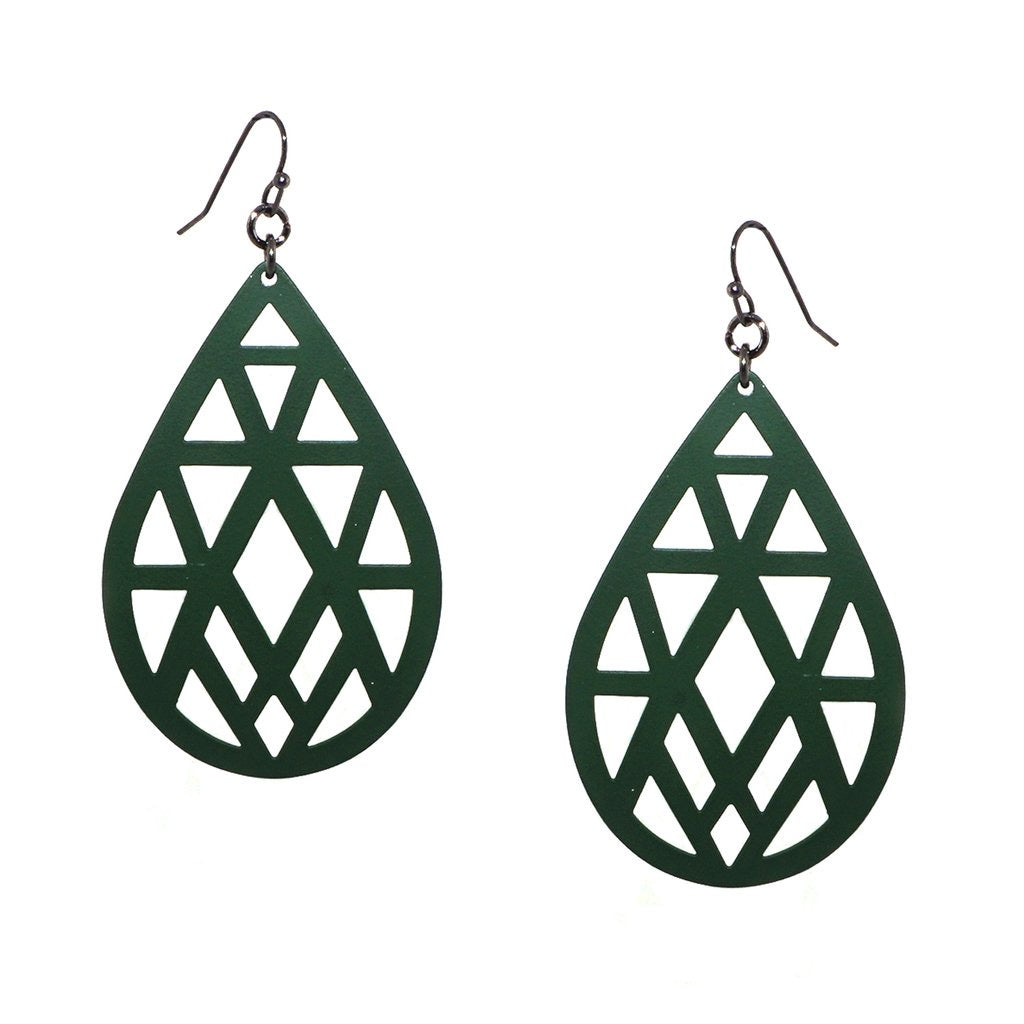 COATED METAL CUT OUT EARRING