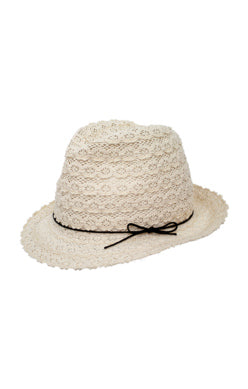 NABILA NATURAL STRAW FEDORA