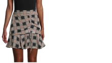 Plaid Print Ruffled Mini Skirt