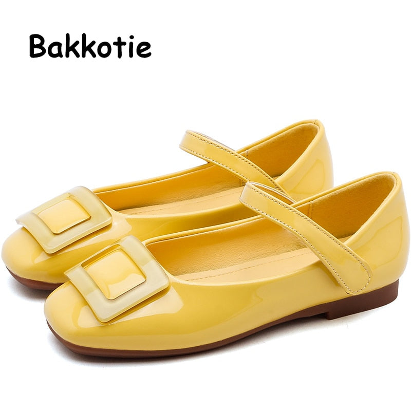 Bakkotie 2019 Kids New Dress Shoes Autumn Baby Girls Fashion Party Pu Leather Shoes Children Sweet Princess Mary Jane Flats