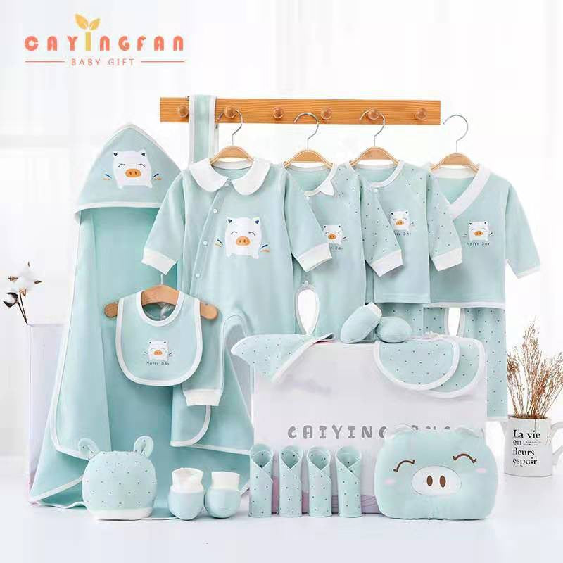 18/20/22 pcs Newborn clothing set spring and summer baby boy's&girl's full moon baby clothes supplies cartoon baby clothe set