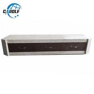 2019 new home furniture white tv unit modern marble tv stand with large storage