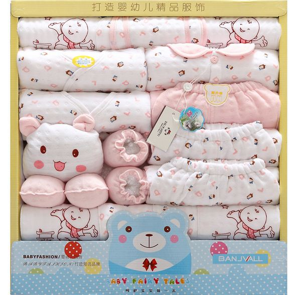 18pcs/Set Autumn Winter Cotton Newborn Baby Girl Clothes Baby Boy Clothing Set Cartoon Print New Born Clothes Outfit Gifts