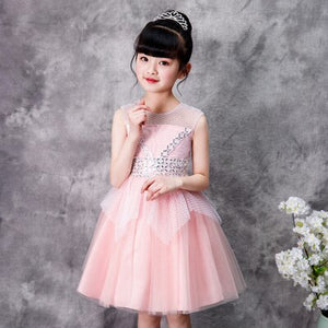 Summer dress 2019 elegant fashion girl butterfly embroidery korea style kids luxury ball gown wedding dresses party celebrity