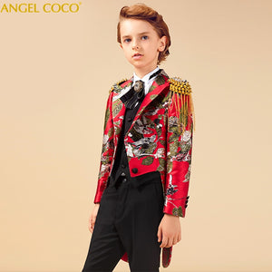 Suit for Boy Tuxedo Boys Suits for Weddings Terno Infantil Costume Enfant Garcon Mariage Disfraz Infantil Boys Suits Kids Formal