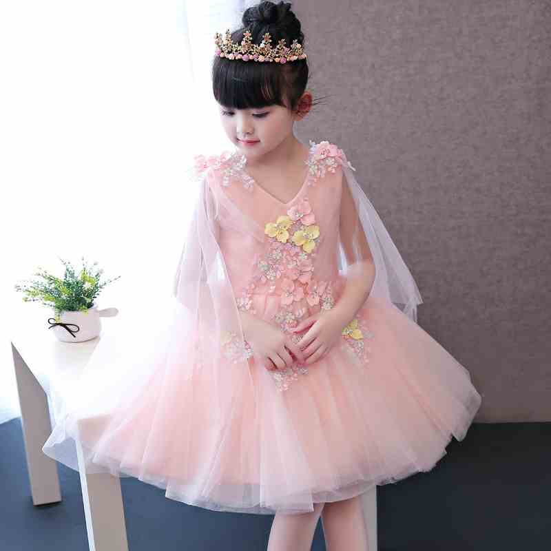High quality children's dress girls wedding dress princess dress piano piano show costumes flower fairy flower girl dress