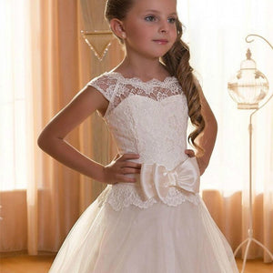 Baby Girl Lace Ball Gown Show Birthday Princess Dresses Flower Kids Girls Tutu Dress Wedding Bridesmaid Clothing Dress GDR408