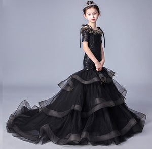 Real Picture High Quality Flower Girl Dresses For Weddings Ball Gown Off Shoulder  Flowers Pageant Gowns For Girls Custom Made