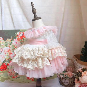 Christmas princess dress Kids Baby Flower Girls Dresses Pageant Birthday Party Wedding Bridesmaid Gown