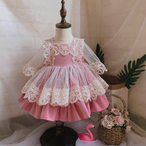 2019new Autumn Kids Custom Spanish Girl Fairy Princess Dress Birthday Wedding Dress Kids Dresses for Girls Christmas Dress Girl