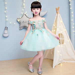 2019 New Children Girls Luxury Beautiful Embroidery Flowers Princess Long Dress Birthday Wedding Party Dress For Children Kids