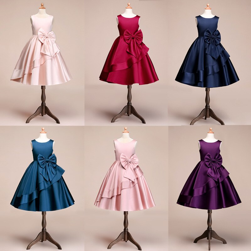 110-160cm Height Girls Party Dress Kids Girl Wedding Birthday Ball Gown Princess Dress Girls Costume