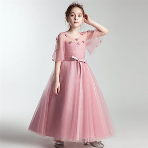 Kids Infant Girl Birthday Wedding Party Dress Children Bridesmaid Toddler Elegant Dress Elegant Lace Formal Party Lace Dress