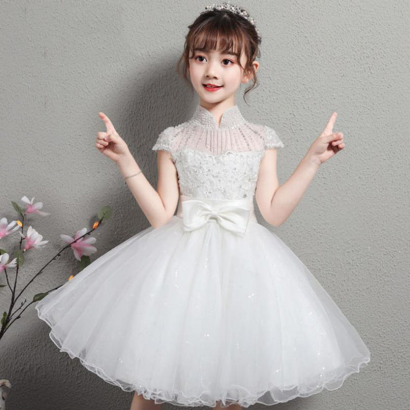 Luxury Sweet Princess Gilrs Dress For Wedding 2019 New Flower Gilrs Ball Gown Prom Party Modis Kids Clothes Dress Vestidos Y2004