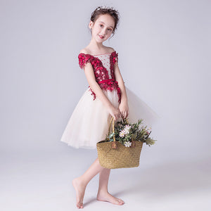2019 new fancy butterfly kids girl wedding flower girls dress princess party pageant formal dress prom little baby girl dress