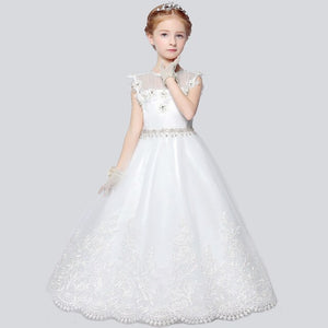 3 Style Fashion Flower Girl Dresses For Weddings and Party Summer 2017 Sleeveless O Neck Girls Dress Pendulum Princess dress P42
