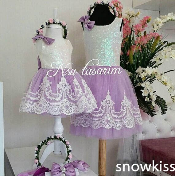 Cute Knee-Length Bling Sequin and White Lace flower girl dresses with Bow baby Birthday Party Dress wedding occasion ball gowns