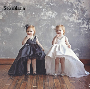 White Black Baby Girls Dresses for Weddings First Birthday Dress for girls Kids Evening Gowns Prom Dress 9M 12M 18M 24M