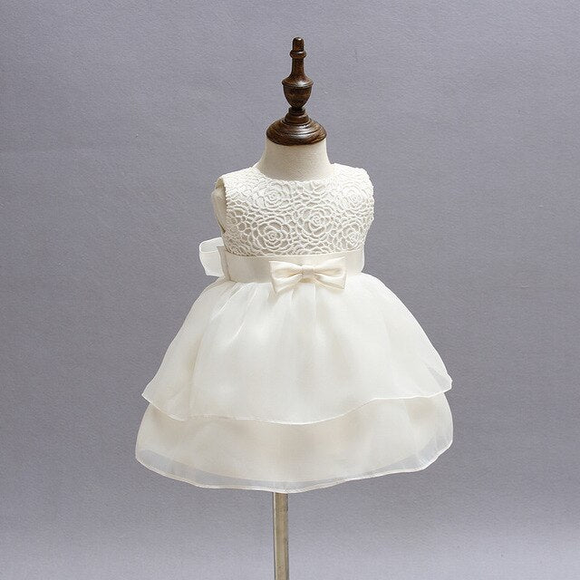 2019 Summer Baby Girl Party and Wedding Dress Lace Christening Gown Newborn Tutu Dress Baptism Anniversaire