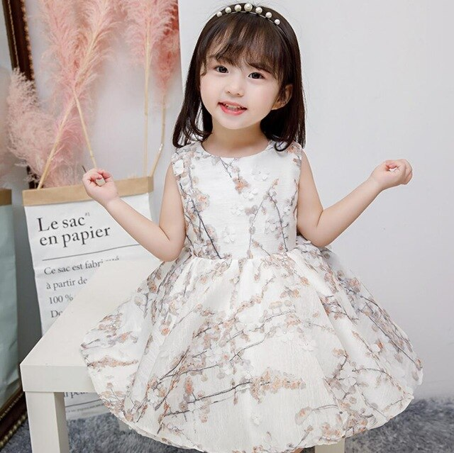 Newborn Girls Dress for Wedding Party Baby Girl Flower Dresses for Toddler Girls 1 Years Birthday Baptism Gowns Clothes