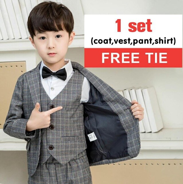 LUOBOBEIBEI children suit wedding blazer for boys formal suit Gentleman Clothes Tops Shirt leisure clothing formal clothing