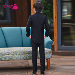 Presenter Swallow Tail Dress Flower Children's Dress Boy Piano Performance Suit Baby Boy Suit