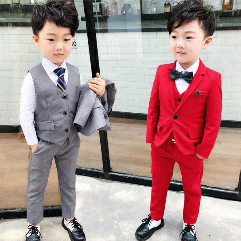 2019 suit for boys 3PCS (jacket + vest +pant ) Single Breasted Boys Suits for Weddings Costume Enfant Garcon Mariage Boys set