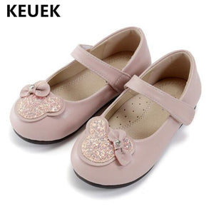 New Children Leather Shoes Baby Princess Spring/Autumn Toddler Breathable Flats Student Girls Shoes Party Dance 019