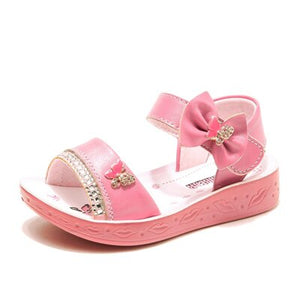 Girls Butterfly Open Toe Sandals Princess Flat Heels Lovely Sandals Shoes Girls Anti Slip Wedding Party Shoes AA51169