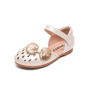 Children Sandal Girls Summer Shoes Sequin Bow Baby Girls Princess Shoes Party Close Toe Soft Kids Beach Sandal TX510